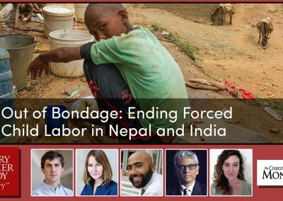 Out of bondage: ending forced child labor in Nepal and India