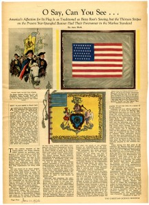 The Christian Science Monitor Weekly Magazine Section, 10 June 1936 image of the Peace Flag.